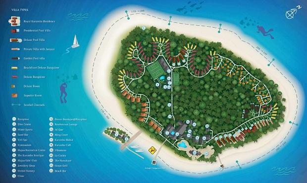 Karte zum Schnorcheln Kurumba Malediven Resort